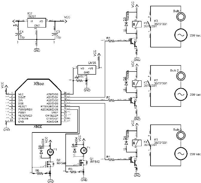 closed loop control circuit using sensor and actuator