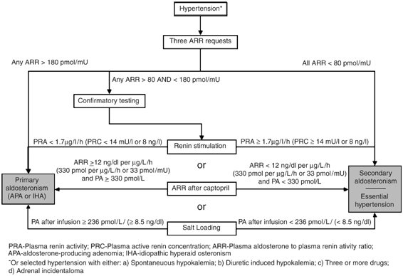 Summary of the diagnostic pathway for primary hyperaldosteronism
