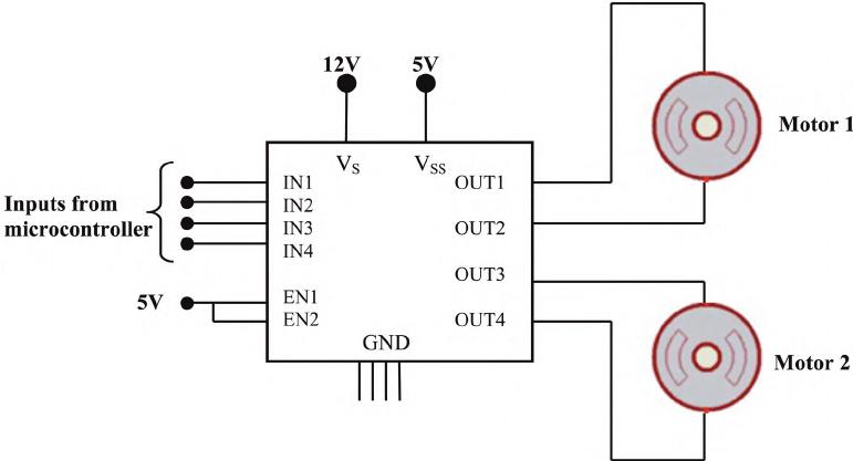 l293d ne motor driver pin diagram all