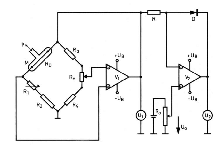 4 wire resistance measurement circuit