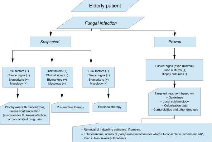 Algorithm for the management of candidiasis in the elderly - patient note