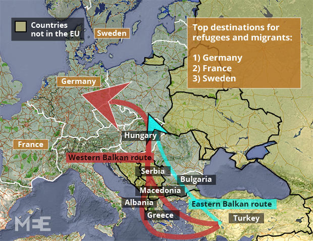 What are the rights of refugees under international law? - best of world map hungary syria