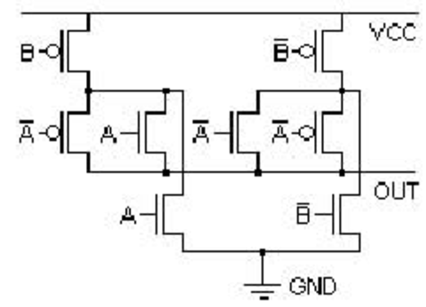 circuit diagram of xor gate using transistor