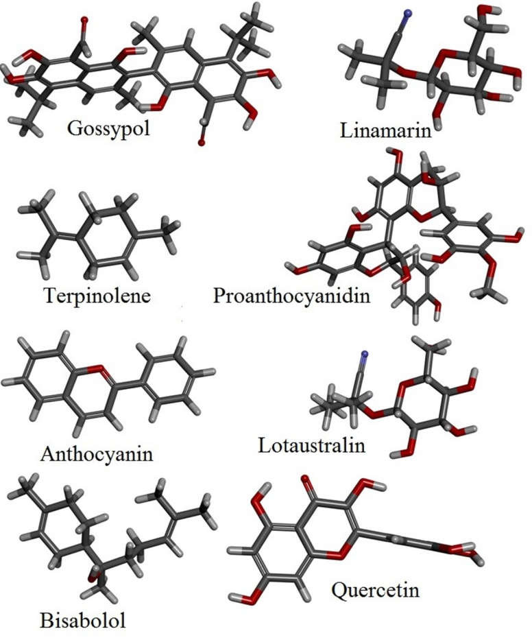 List of secondary metabolites which behave as inhibitors in blocking