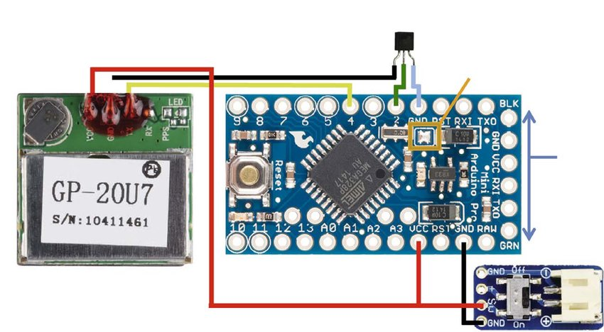 Wiring diagram of the \