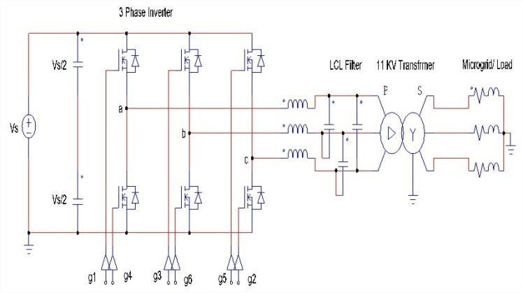 Circuit diagram of three-phase inverter with transformer Download