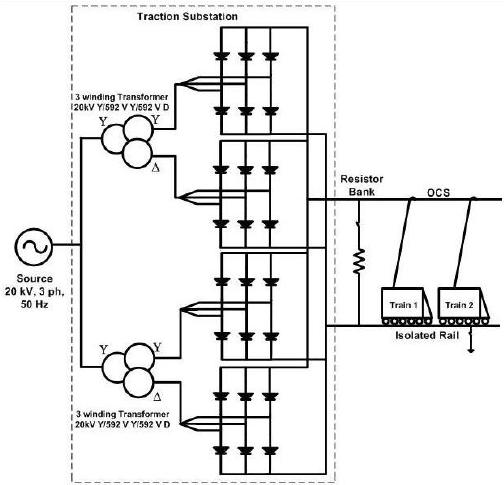 power distribution system single line diagram