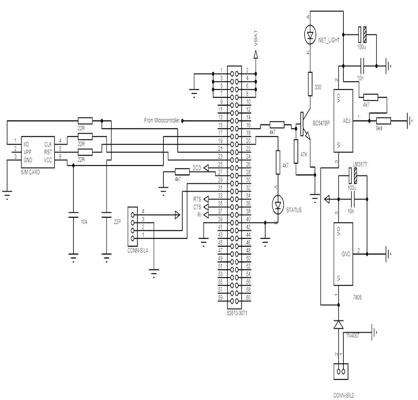 circuit diagram gsm module