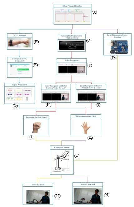 Block Diagram Program Operation (A) Main Menu, (B) MYO Position, (C