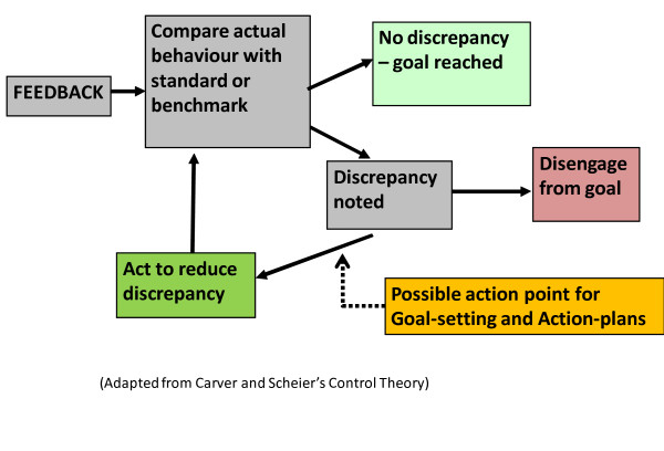 Illustration of hypothesized role played by goal-setting and - action plan work sheet