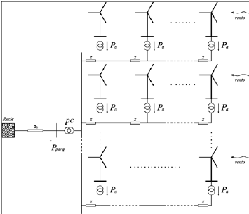 wind power plant single line diagram