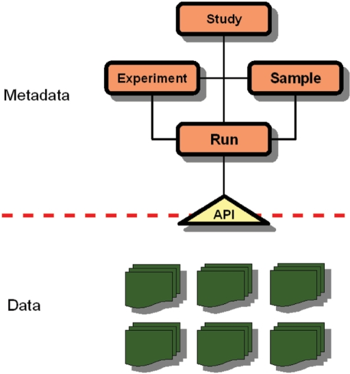 Structure of ENA-Reads A relational data model has been developed