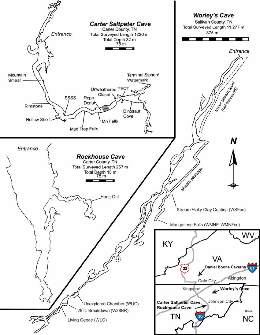 diagram of a cave