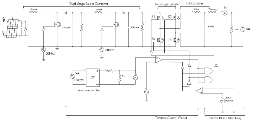 grid tie inverter schematic diagram