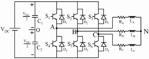 z source inverter circuit diagram