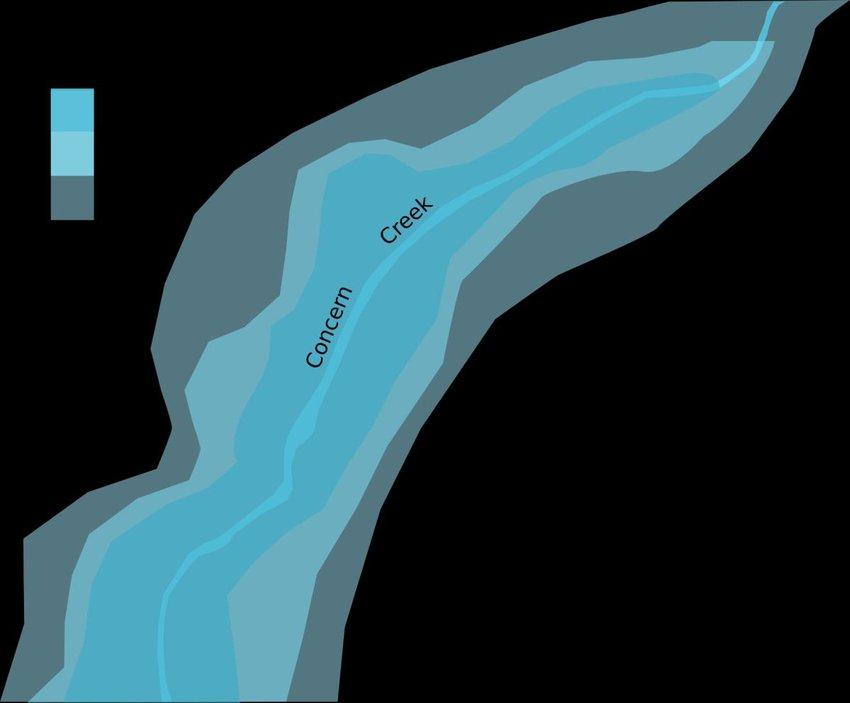 Figure J-2 Sample flood hazard scenario used in a risk assessment