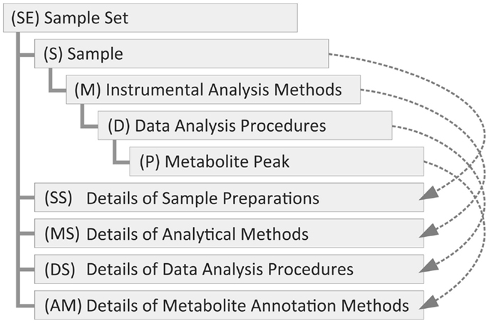 Hierarchy of the metadata classes of the TogoMD format The metadata - data analysis format