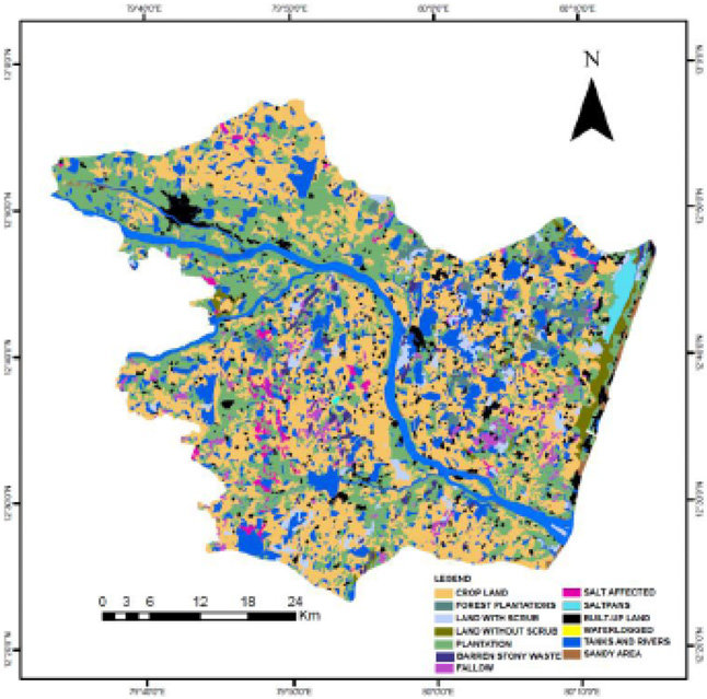 Land use/land cover map of parts of Palar river basin Download