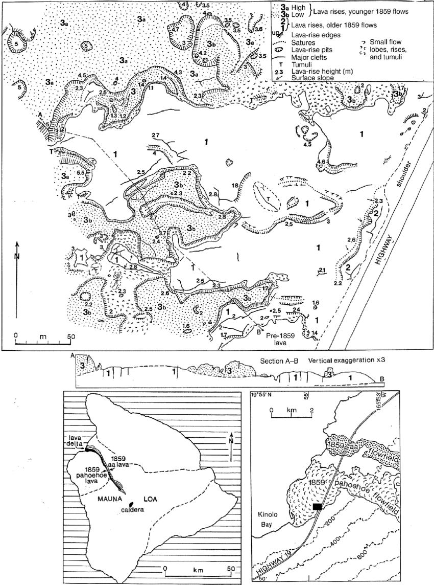 pahoehoe lava diagram