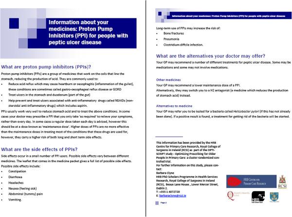 Example of patient information leaflet Download Scientific Diagram
