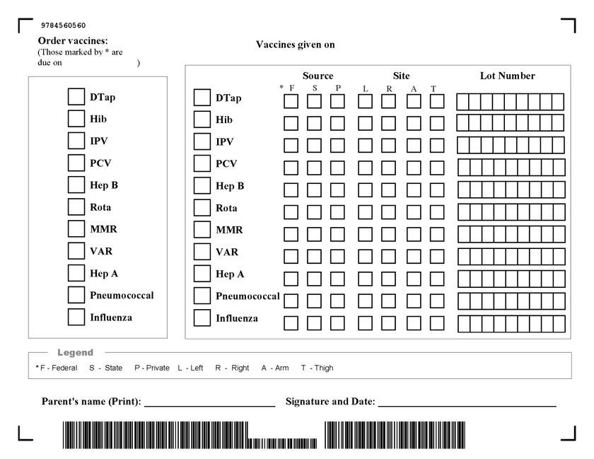 sample immunization record - Pinarkubkireklamowe
