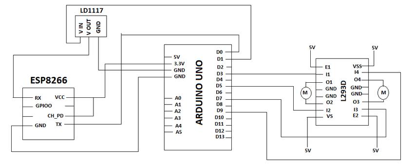 arduino uno wifi circuit diagram