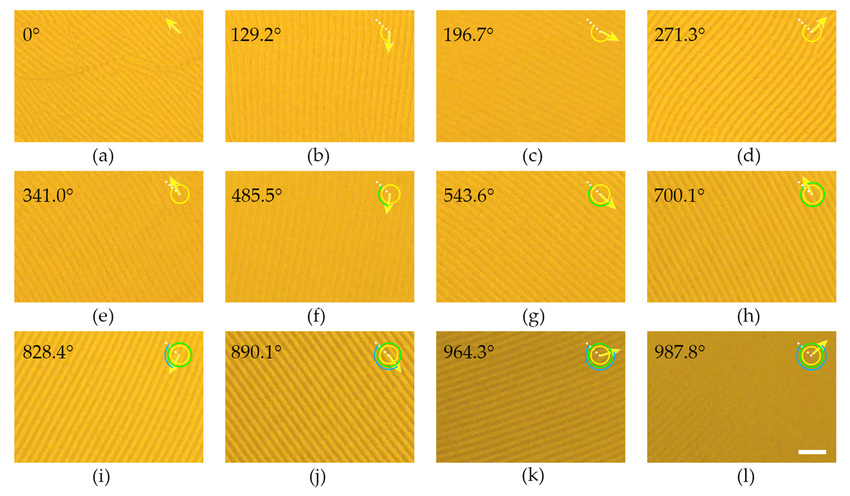 Light-driven rotation of the CLC grating (1 wt  ChAD-3c-S) along