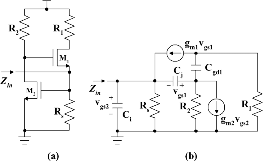 proposed transimpedance amplifier schematic