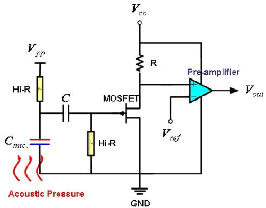 condenser microphone amplifier circuit