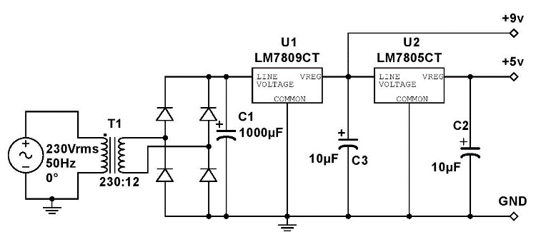 board and power supply system control schematic diagram circuit