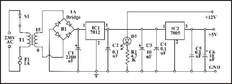 A schematic diagram of power supply circuit Download Scientific