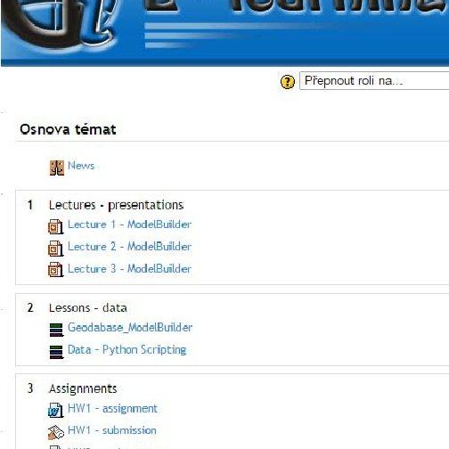 Visual programing in GIS software Zdena Dobesova updates 1
