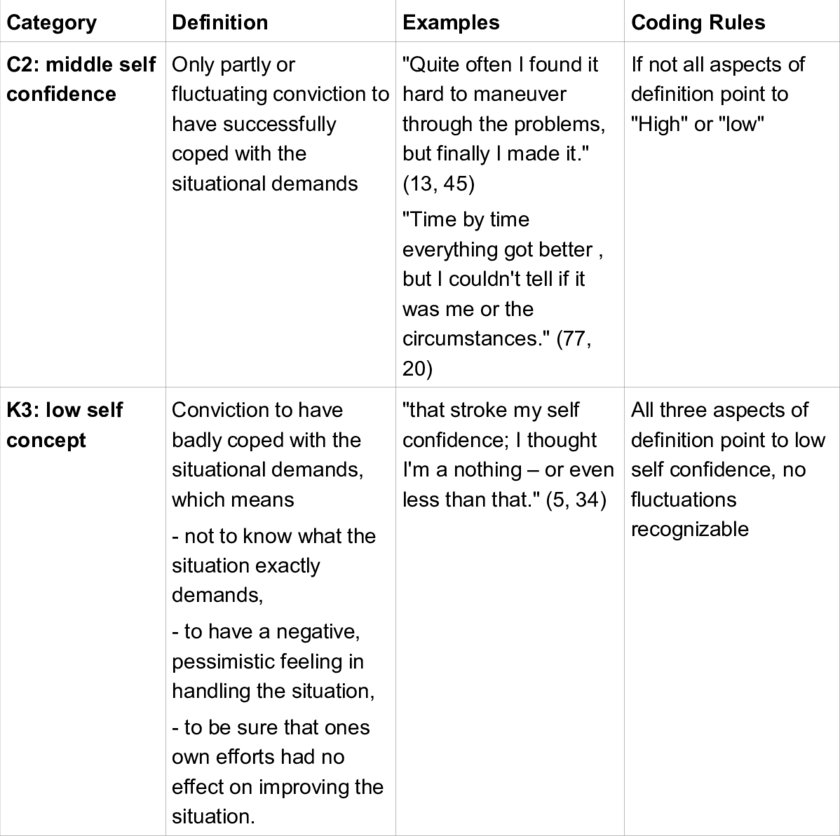 Example for a coding agenda 16 Download Scientific Diagram