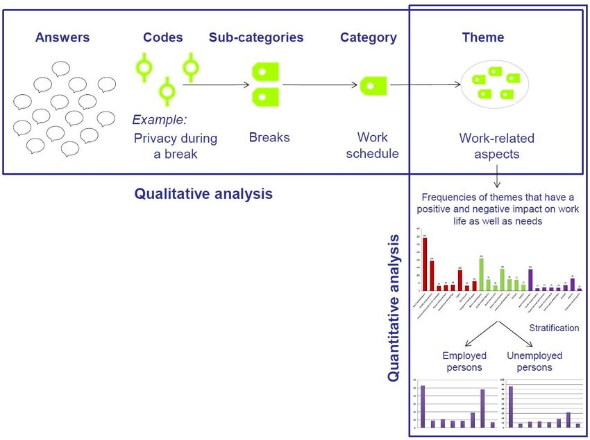 Scheme of qualitative and quantitative analysis; an example of the