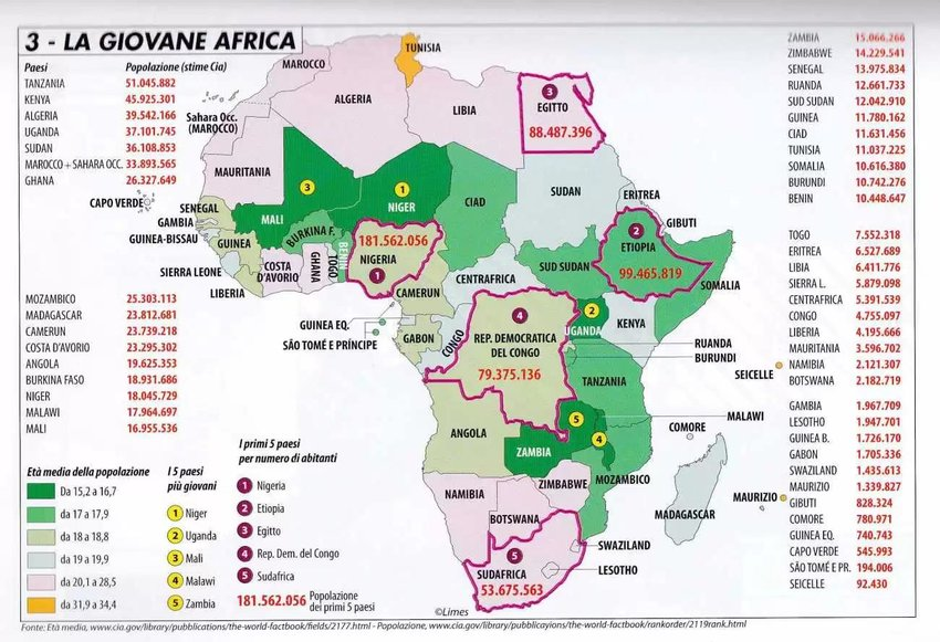 A look at the population of the African continent Map property of