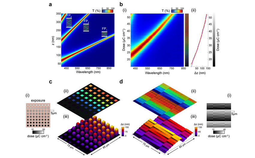 Grayscale exposure dose to color experimental verification a