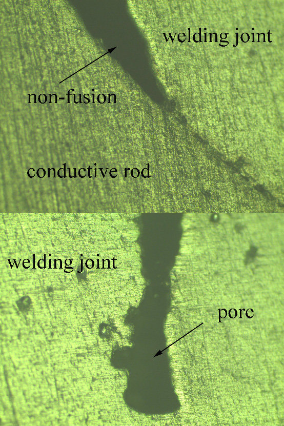 the microstructure of the welding joint of the flange of A phase (a