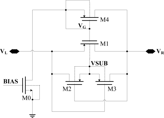 The schematic diagram of improved diode-connected CMOS Download