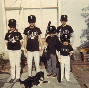 The Lassalle Kids with their Mascot, Bubbles on Little League Opening Day