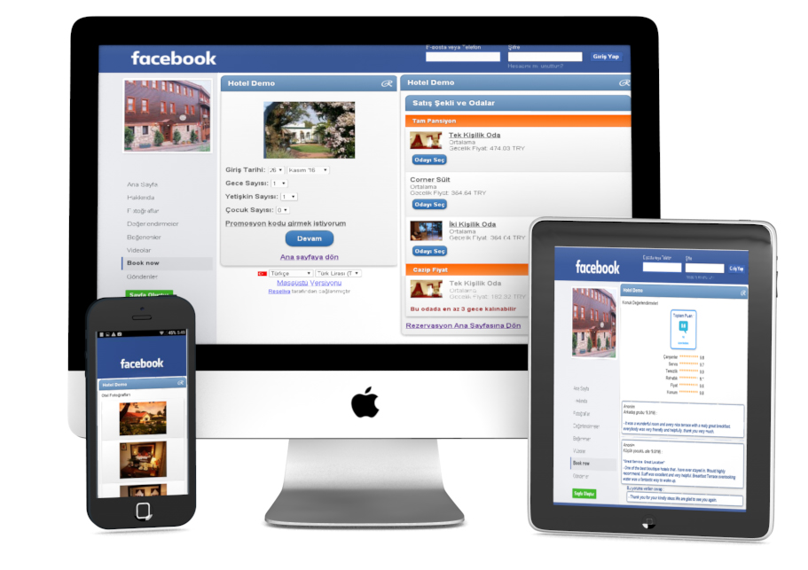 Sell Hotel Rooms on your Facebook Page Reseliva - booking app
