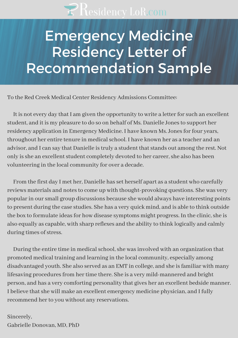 letter of recommendation ideas