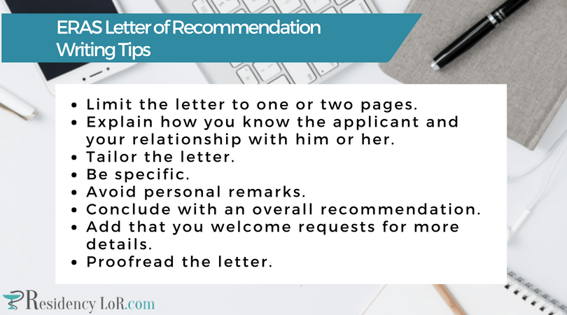 eras letter of recommendation request form