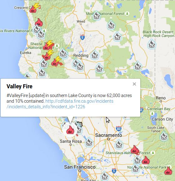 Valley fire map
