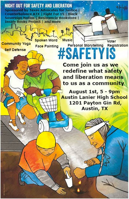 Night out for Safety and Liberation Flyer REVISED 1