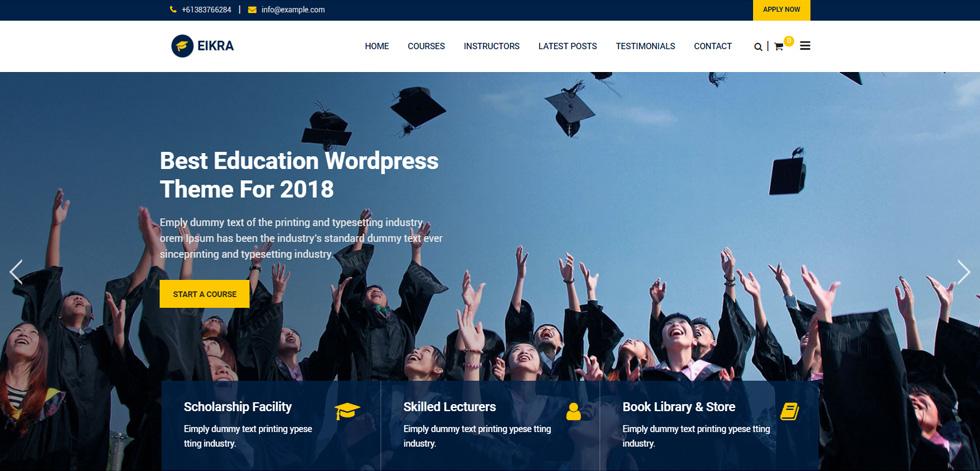 Eikra - Premium Responsive Education WordPress Theme
