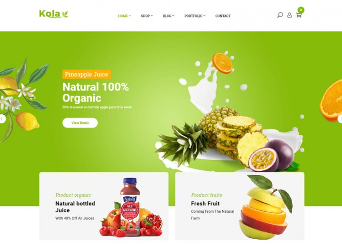 Best Premium Responsive Organic Food Themes 2014 - Free Demo