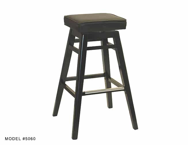 Backless Square Seat Swivel Stool Model 5060