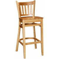 Vertical Slat Wood Bar Stool for Sale | Restaurant Barstools