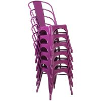 Purple Metal Chair ET-3534-PUR-GG ...