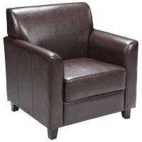 Brown Leather Chair BT-827-1-BN-GG ...